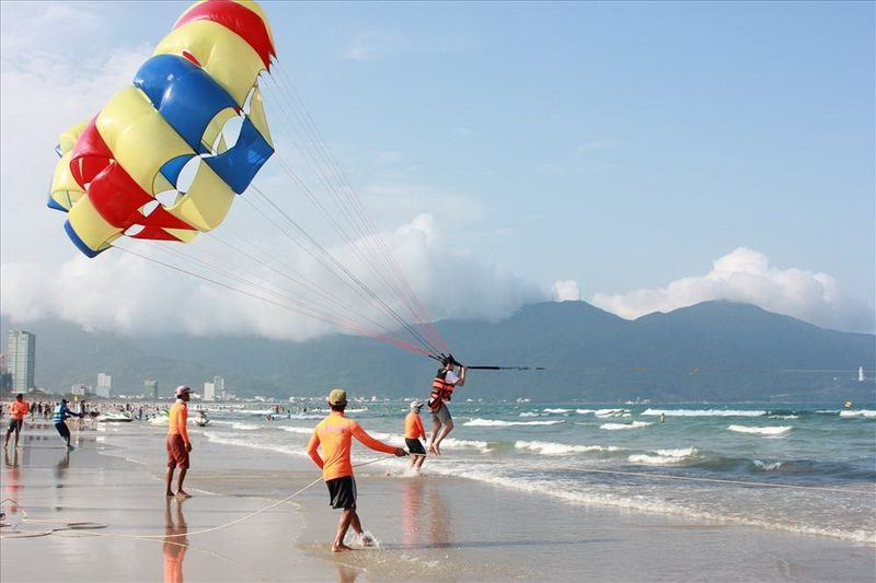 dù bay trên biển Nha Trang