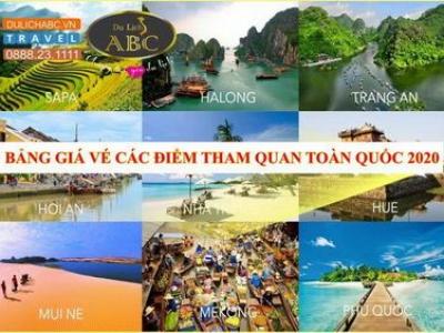 Bảng giá vé tham quan du lịch Miền Bắc 2021